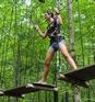 The aerial hebertism courses of the Parc du Domaine Vert Thumbnail 1